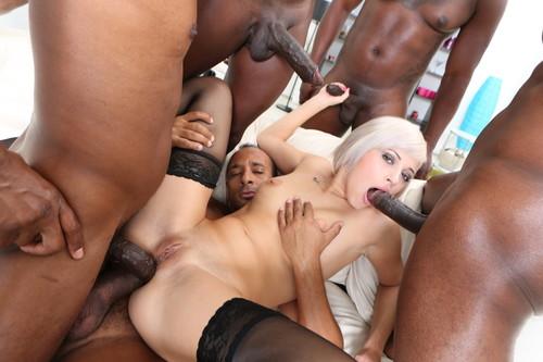 LegalPorno.com - Ria Sunn - Black Busters, 5 On 1 Ria Sun DP/DAP/Gapes/Facial Blonde One Gets BBC Gang Bang GIO223
