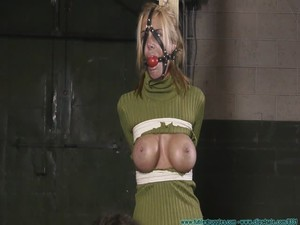 Armani Knight Post Tied - Bondage and discipline