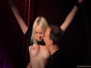 Arteya - The torment of a young blonde pussy - Bondage and discipline
