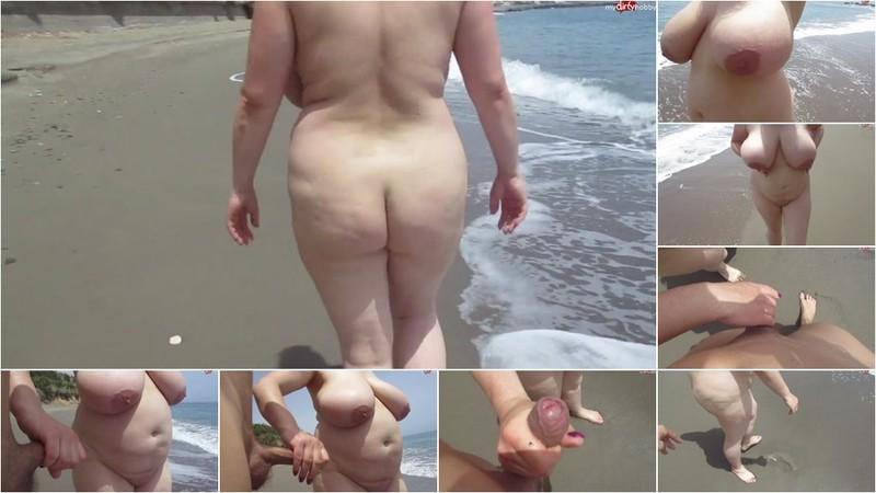 SEXY-BLACKY - Am oeffentlichen Strand auf Rhodos rumgesaut [HD 720P]