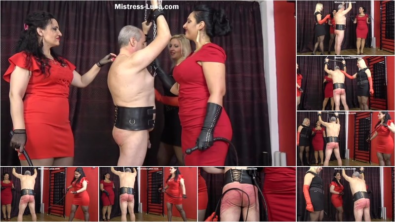 Mistress Luna - Whipped By 3 Goddesses [HD 720P]