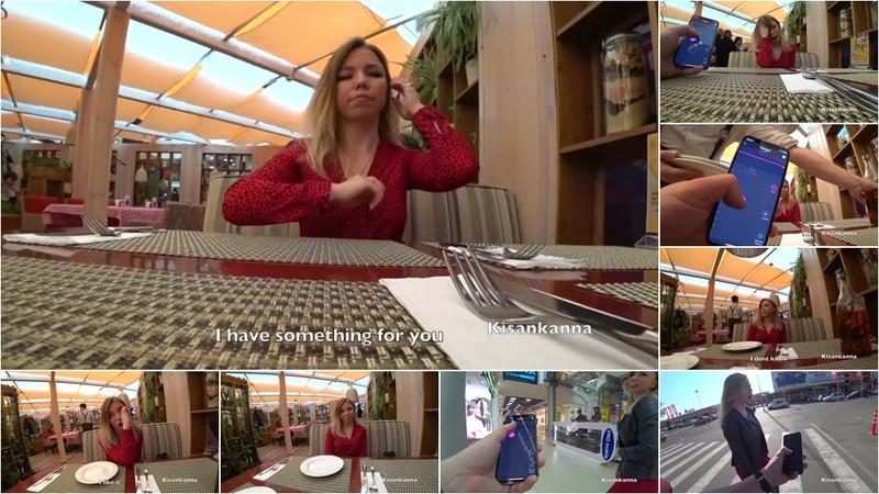 Kisankanna - Young girl got an orgasm in a restaurant - Watch XXX Online [FullHD 1080P]