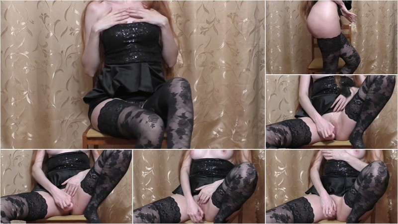 Lovely Natalie - Slutty Girl Play with Dildo on a Chair [FullHD 1080P]