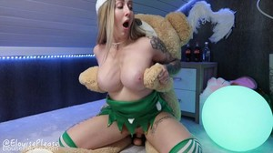 ElouisePlease - Naughty Elf Teddy Bear Fuck, HD