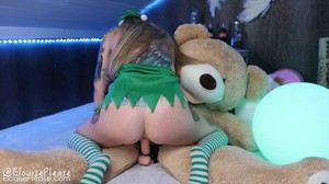 ElouisePlease - Naughty Elf Teddy Bear Fuck, HD