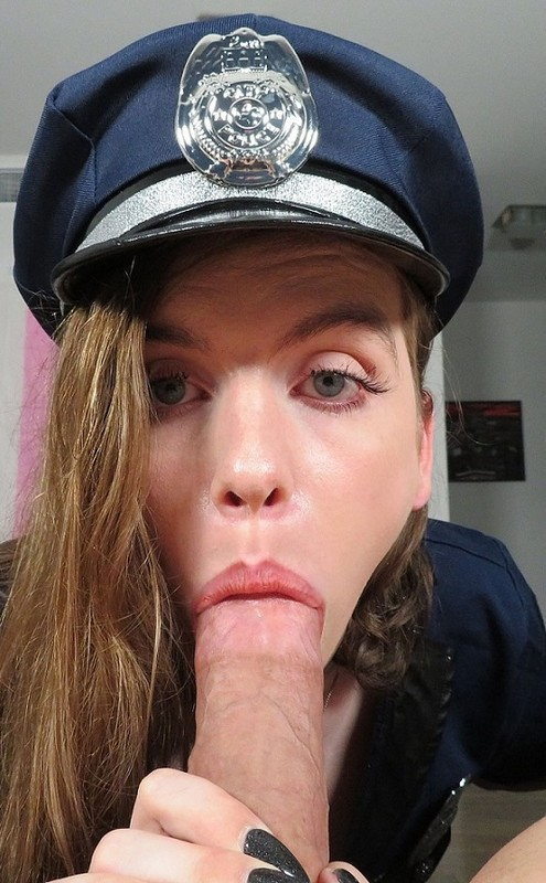 Skylar Adams Dirty Cop Cleans Off Your Cock With Her Tongue (23 September 2019)