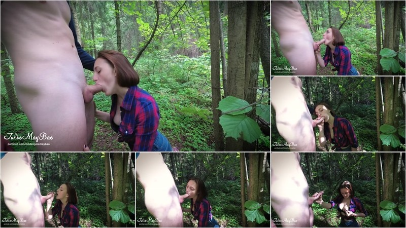 Juliemaybae  Outdoor Public Forest Blowjob From Amateur Teen Cum On Face [FullHD 1080P]