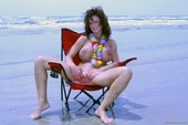 Deauxma Red Beach Chair