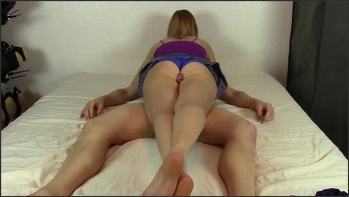 Cockscissors Scissorhold Used by Hottie in Fullback Panties to Get a Coerced Male Orgasm all Over Her Legs - Brittanys Sexy Fantasies  - iwantclips