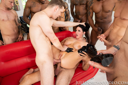JulesJordan -  Angela White - Dark Side Her Biggest Gangbang Ever, Double Anal, Triple Penetration!