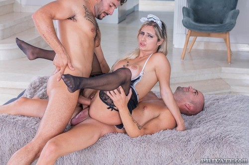 Sexy Maid Debuts With Dp Threesome [HD]