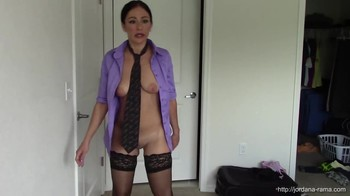 Mommy behaves like a sexy robot and enjoys vibrator