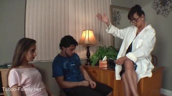The doctor conducts a hypnotic session for a couple in love and shows how to fuck
