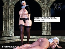 Crazy Dad - White Nun - The Shadow of Evil 3D Adult Comics