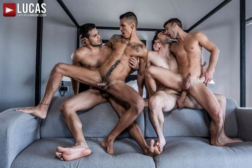 Max Arion, Allen King, Rico Marlon, Max Avila 'Four-Way Breeding' [Bareback]