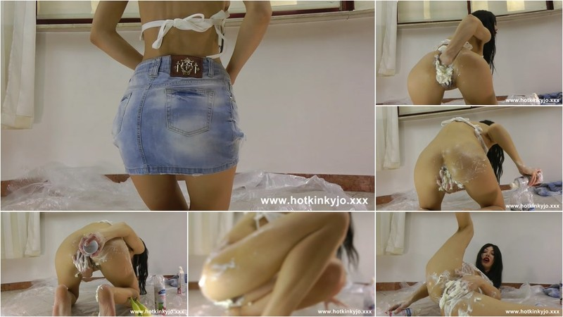 Hotkinkyjo - Fist fuck banana split movie [FullHD 1080P]